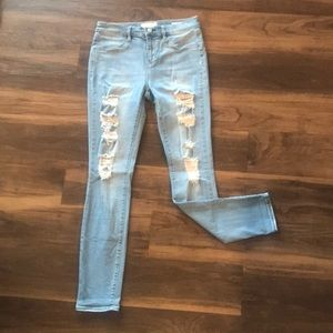 PACSUN light wash ripped jeggings